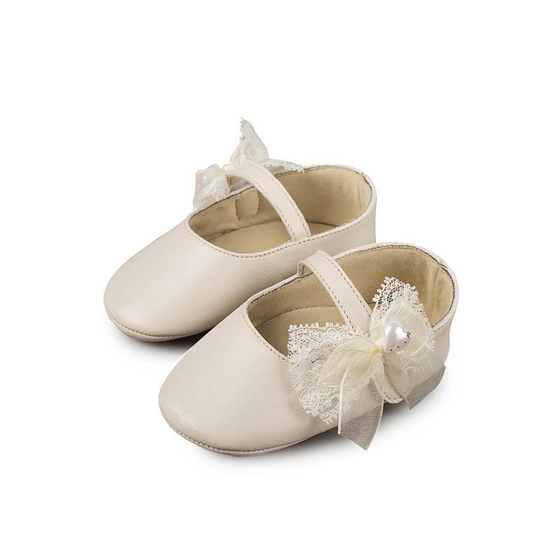 2b6045f13d8 Βαπτιστικό Παπούτσι Κορίτσι Babywalker MI1555 Εκρού