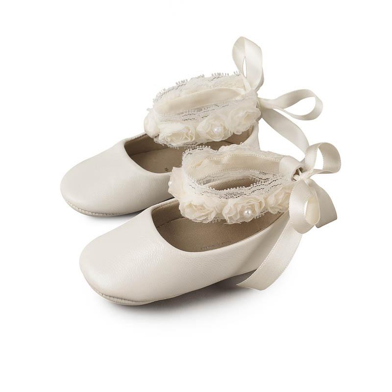61ac39815db Βαπτιστικό Παπούτσι Κορίτσι Babywalker MI1506 Εκρού